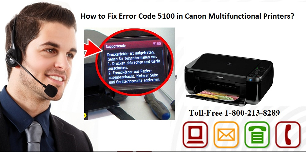 Fix Error Code 5100 in Canon Multifunctional Printers