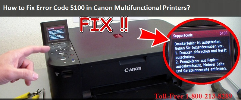 How to Fix Error Code 5100 in Canon Multifunctional Printers
