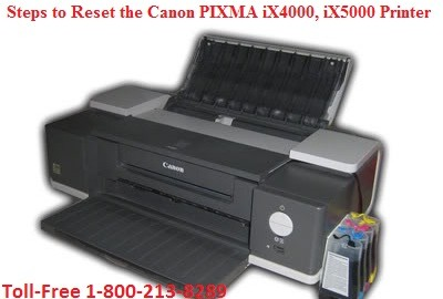 Steps to Reset the Canon PIXMA iX4000, iX5000 Printer
