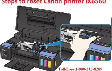 Steps to reset Canon printer IX6560