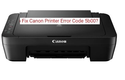 Fix canon Printer Error code 5b00