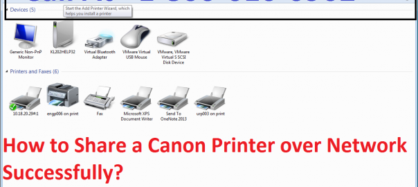How to Share a Canon Printer over Network Successfully