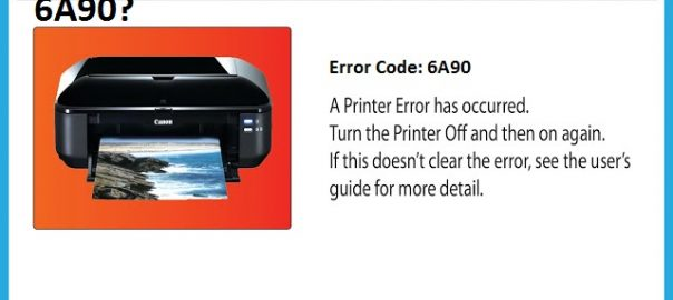 Canon Printer Error Code 6A90