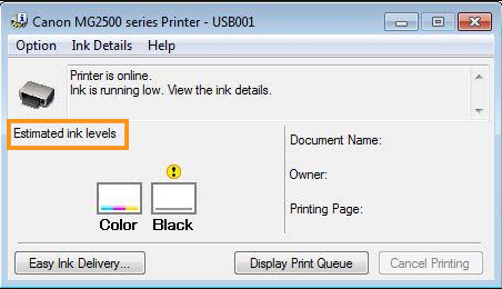 Disable the Low Ink Warning