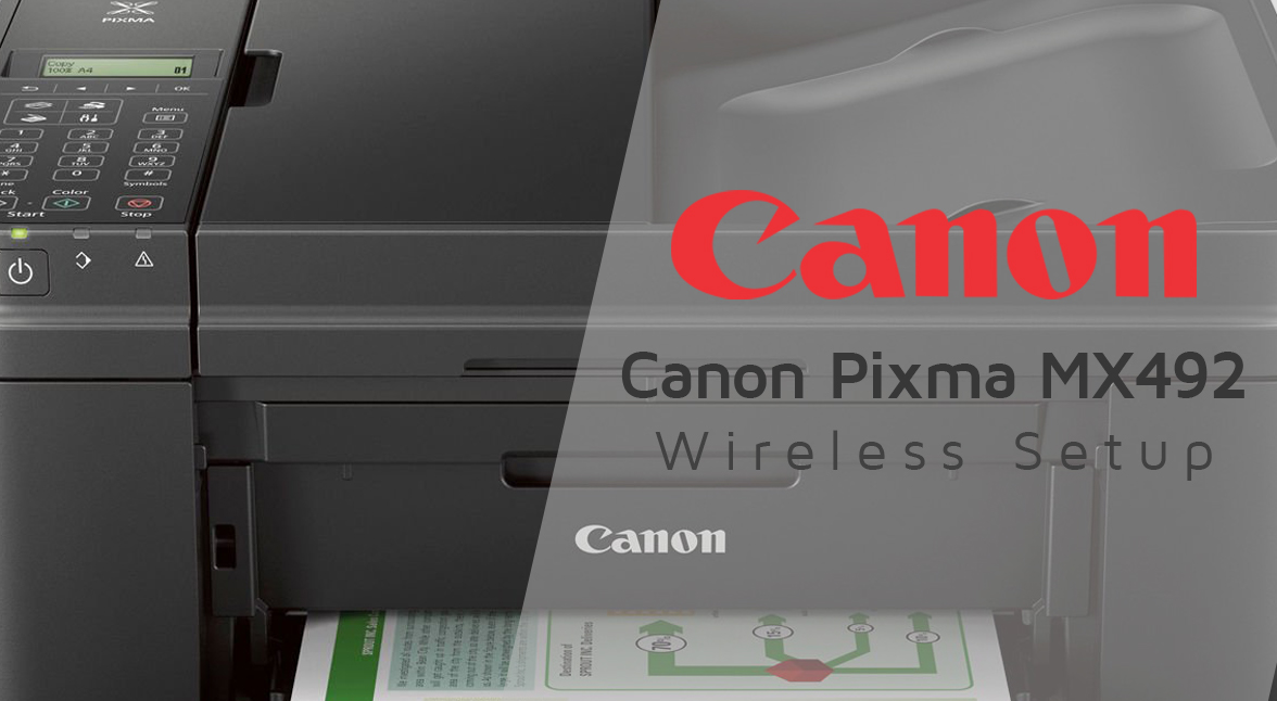 Canon-Pixma-MX492-Wireless-Setup